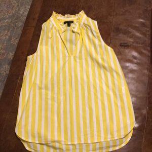 J crew yellow and white stripe top